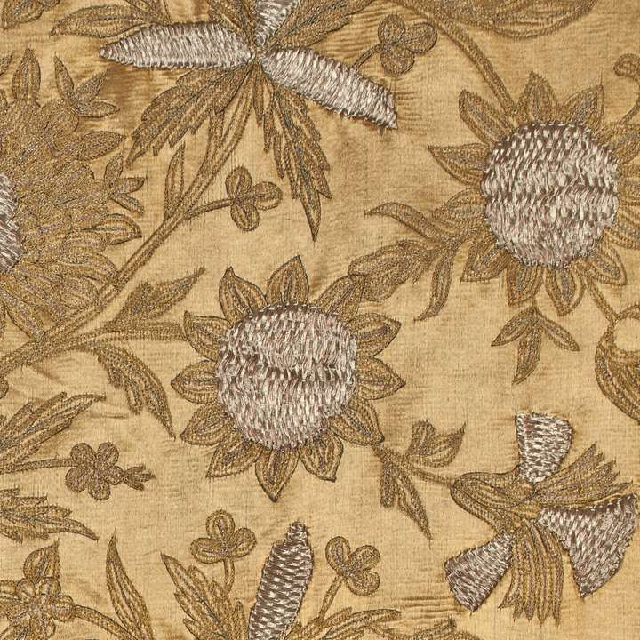 Ottoman Embroidered Gold Silk Hanging